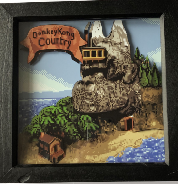 Donkey Kong Country 3D Map Art Diorama